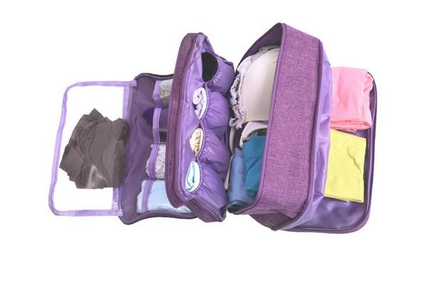underwear bra storage bag 2018 New 6 color option waterproof women sock underwear travel bag MOQ 1 PIECE
