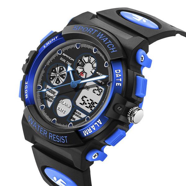 2019 Popular Kids Watch Sports Shock Cartoon Led Digital Wristwatch Alarm Clock Boys Girls Dual Display Wristwatches Reloj Dropship Saat