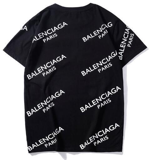 Unisex Hot sale Paris Design Men Printed bb Full Logo MODE Tee Shirt T Shirt Female fashion Women barcelo Slim Fashion Knits Tops T-shirt