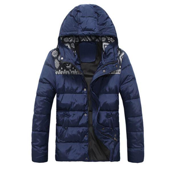 Mens Chaquetas de invierno con capucha estampados Applique diseñador Nueva llegada Duck Down Coat Mensfashion ropa azul