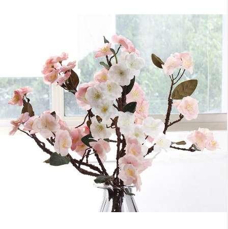 Real Touch Hydra flores de cerezo japonesas artificiales falsas flores decorativas para la boda nuevo hogar 4 colores HI-Q 1pcs