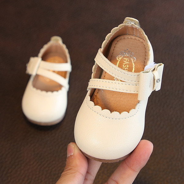 Bowtie Children's Leather Shoes Diamond Autumn New Girls Princess Shoes Soft Bottom Solid Color Baby Single