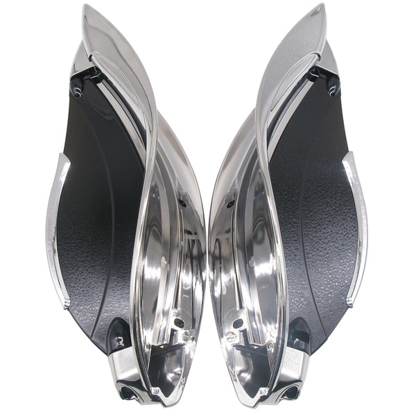 best selling Tinted Adjustable Batwing Fairing Air Deflectors For Harley Touring 2014-2017
