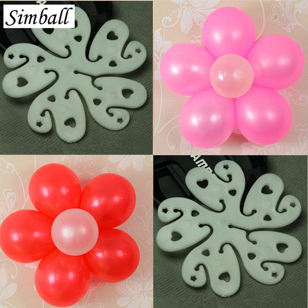 New 5pcs/lot Seal For Wedding Decoration Balloon Accessories Plum Flower Clip Practical Foil Balloons Sealing Clamp