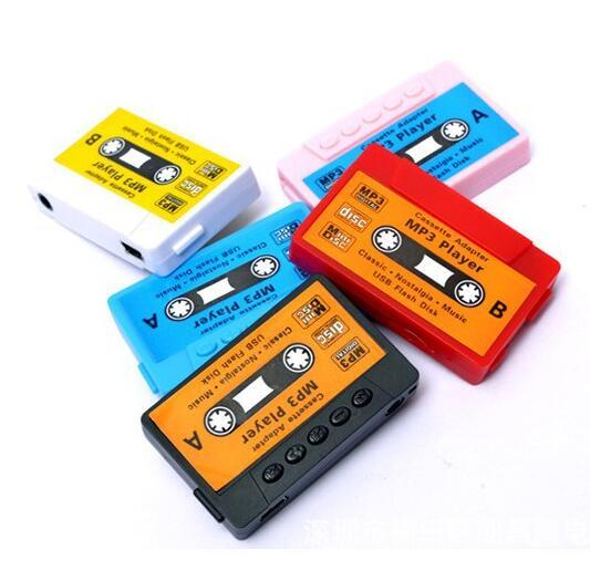 Wholesale- Hot Sale High quality mini Tape MP3 Player support Micro SD(TF) card 5 colors DHL Free shipping Cheapest