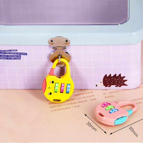 Creative Coded Lock Pencil Case Suitcase Luggage Bag Padlock Burglarproof Diary Mini Cartoon Lock Stationery Giftware Promotional Gifts