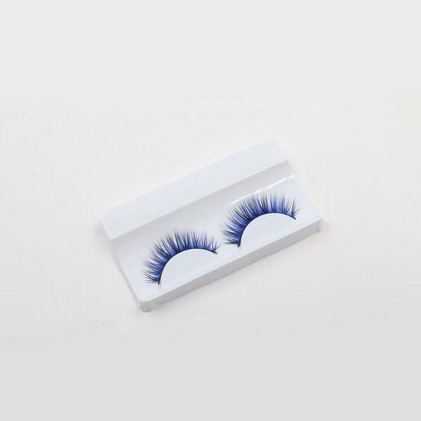 Göz Lashes Yüksek Kalite mor / mavi / siyah renk yanlış eyelashes moda