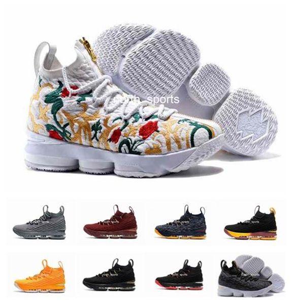 Compre 2018 Nuevo Estilo LeB 15 Hombres Zapatos De Baloncesto Zapato Ron Zapatillas De Deporte De Llegada 15s De Alta Corte Zapatos Casuales Para