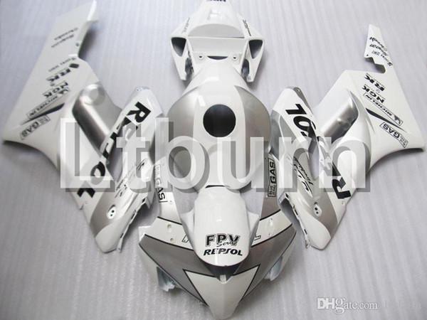 ABS Kunststoff Spritzguss Motorrad Verkleidung Kit Für Honda CBR1000RR CBR1000 2004 2005 04 05 Weiß Silber Repsol AC28