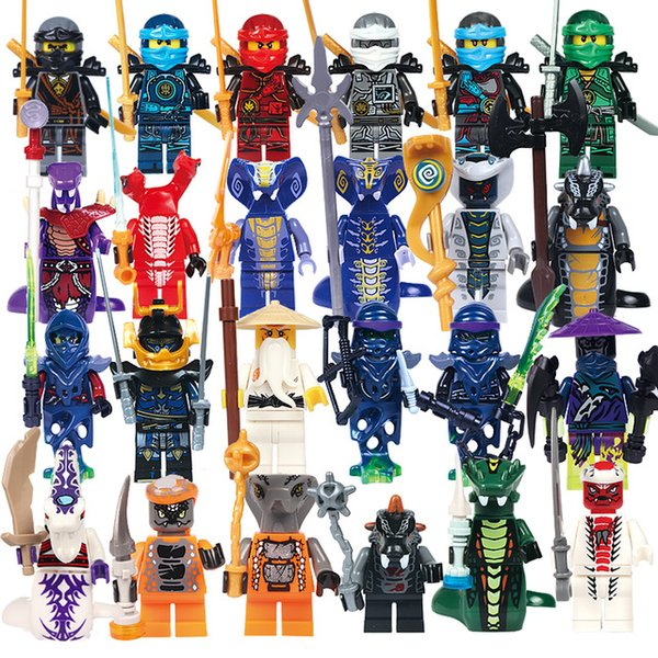 24pcs/lot Ninjago Building Block Classic Action figures toys for Children gifts DIY bricks minifigs Toys