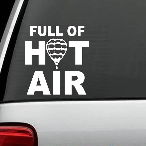 Full Of Hot Air Balloon Decal Sticker Car Truck Van Laptop Zeppelin Rear Window Car Sticker