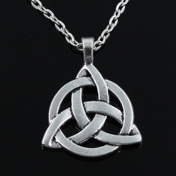 new fashion knot amulet Pendants round cross chain short long Mens Womens silver necklace Jewelry Gift