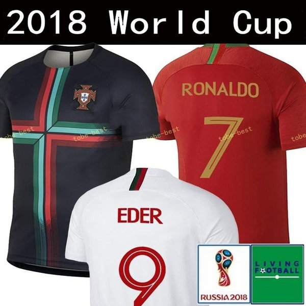 2018 WORLD CUP-Fußballtrikot Thailand 7 9 EDER 20 QUARESMA 17 NANI 10 J.MARIO 9 SILVA 3 PEPE 8 J.MOUTINHO Fußballuniformen