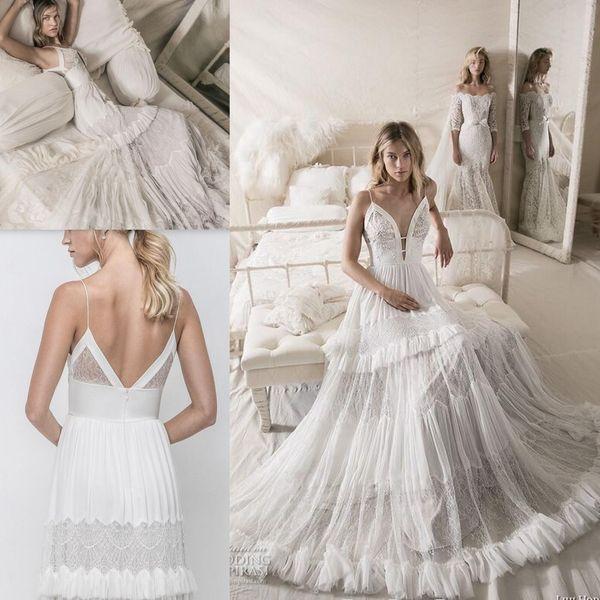 Discount Lihi Hod 2018 Wedding Dresses Modest Vintage Lace Fairy ...