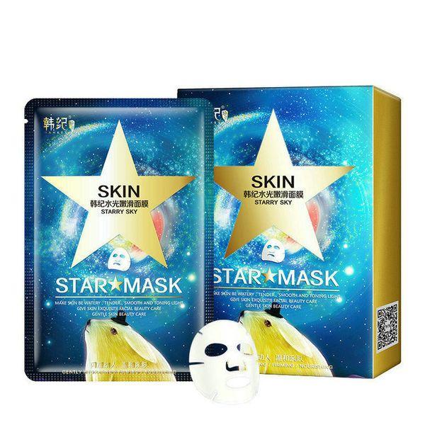 DHL 6lot Star Mask Glitter Glow Star Whitening Mask Lentejuelas algas Máscara facial negra Peel off Hidratar la piel cielo estrellado Cuidado de la salud