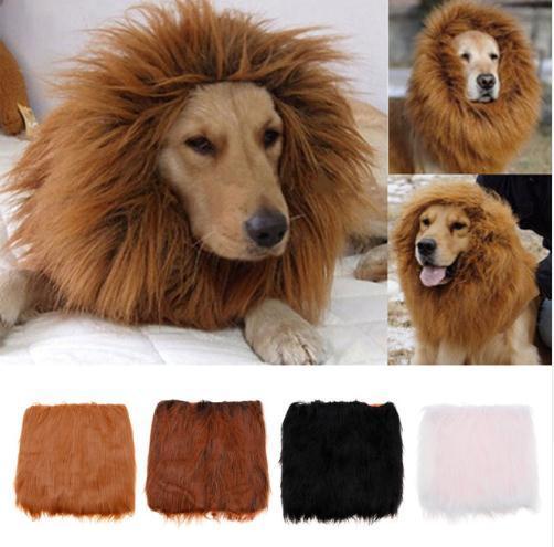 Ajustable Grande Mascota Disfraz León Mane Peluca Perro Gato Ropa de Halloween Disfraces con Oídos Pet Proveedores c456