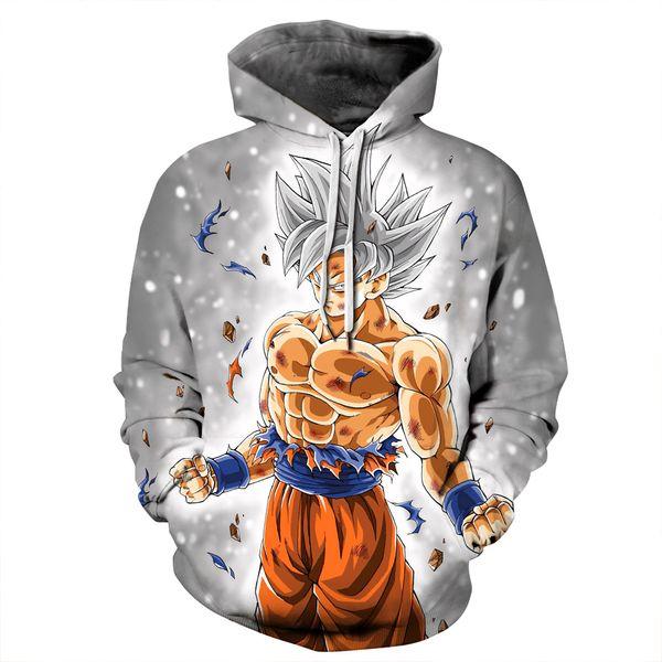 Mens womens 3D Hoodies 2018 Newest Anime Dragon Ball Z Super Saiyan Hooded Sweatshirts Goku Vegeta 3D Pullover Steetwear Tops
