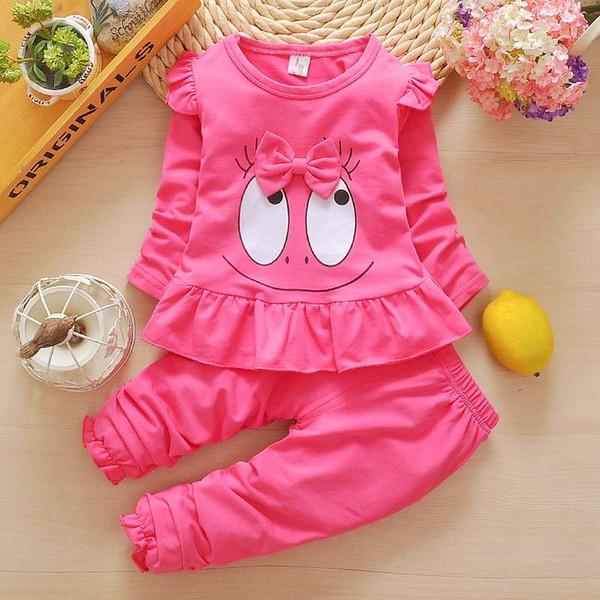 62181f715 BibiCola Conjunto de Ropa de Bebé Niña Primavera Otoño Niños Conjunto de  chándal para Niñas Niños