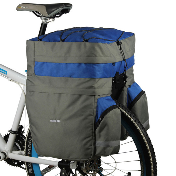 double side rear rack ROSWHEEL 60L Bicycle Basket Cycling Waterproof Bag Bike Double Side Rear Rack Tail Seat Trunk Bag Pannier With