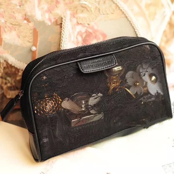 Vintage black lace Cosmetic free shipping Travel Makeup Bag/Beautiful high quality cosmetic bag/cosmetic pouch