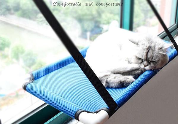 Camas para gatos montadas en la ventana con ventosas de fuerza Cat Hammock Suministros para mascotas soleados Colchonetas para gatos Asiento de descanso Cubierta lavable Cama para mascotas