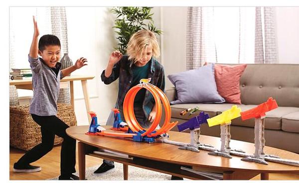 Mattel roues chaudes piste ensemble chaud petite voiture de sport alliage voiture piste vitesse limite saut piste DJC05 jouet cadeau