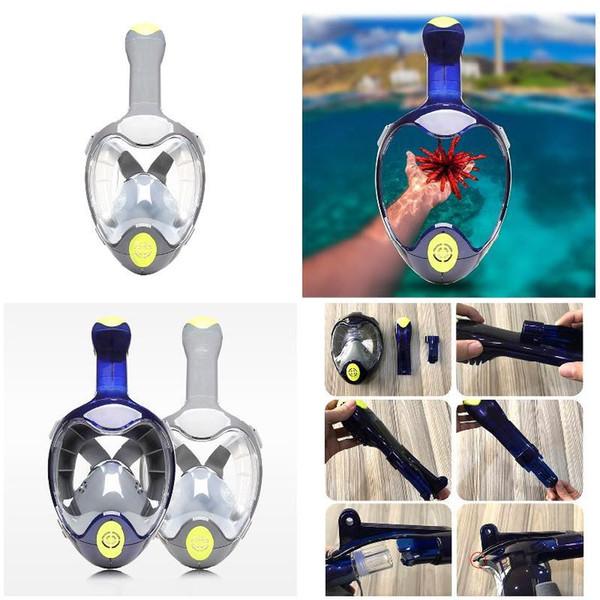 Seaview 180 Grad Schnorchel Maske Panorama Vollgesichtsschutz verhindert Knebel mit Tubeless Diving Tool BB55