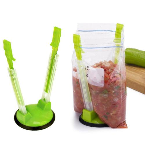 Baggy Rack, Sandwich Bag Racks, Sujete las bolsas de almacenamiento de alimentos en el soporte, el mejor abridor para el congelador de almacenamiento Baggie - Ideal Plastic Kitchen Gadget,