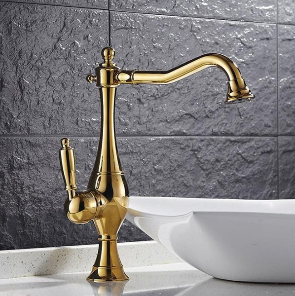 Free Shipping brass 360 degree nickel or gold kitchen faucet sink faucet with plumping hose luxury water tap basin