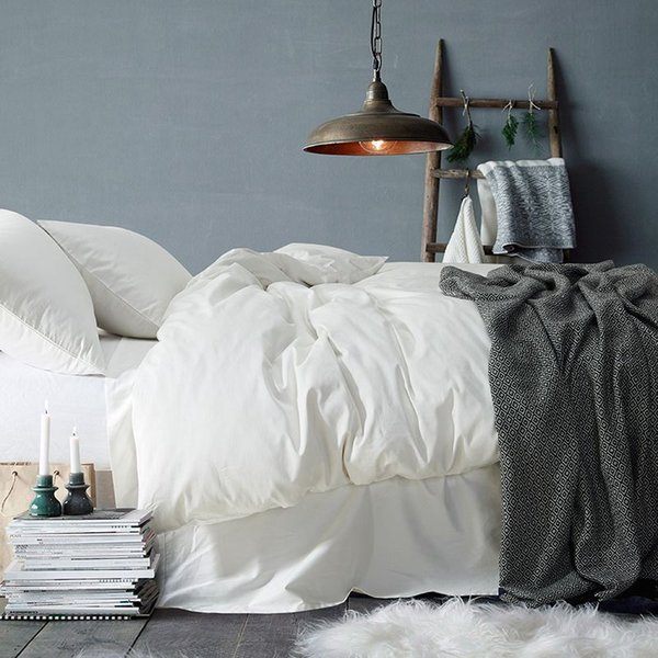 40 Luxury Solid Color Egyptian Cotton Bedding Set Duvet Cover Sheet Pillowcase King Queen Size White Gray Blue Bed Linen