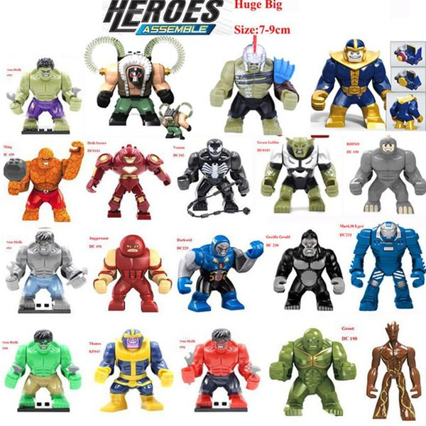 Hulk Building Block Puzzle Super heroes Marvel Toys Giant Action Figures Captain America deadpool Groot thanos Ironman Dogshank