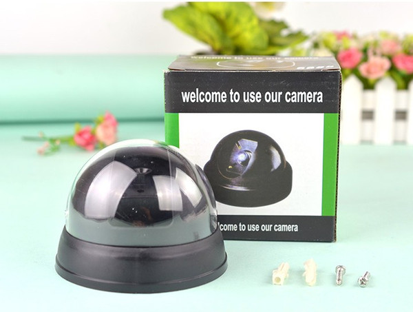 Dummy Dome Surveillance Security Camera with LED Sensor Light Outdoor Fake Camera For Home Security with Retail Package LLFA