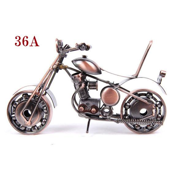Antique Style Motorcycle Model for Home Office Display Decorative Furniture Motor Figures Bronze Black Color Different Designs