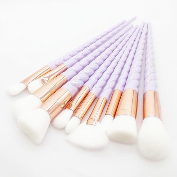 Единорог набор кистей для макияжа 10шт полностью профессиональные кисти для макияжа радуга красочные алмазные ручки составляют кисти комплект инструментов.