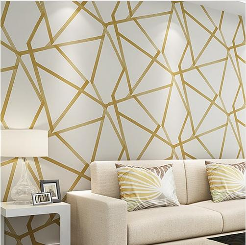 Metallic Triangle Geometric Modern Design Wall Paper Home Decor Wallpaper For Walls Roll Bedroom Living Room Hallway Wall Cover Custom Wallpaper