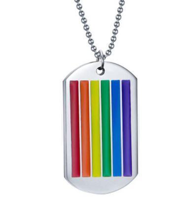 Nouveau collier pendentif arc-en-ciel pour femme ras de cou en acier inoxydable Gay et lesbienne LGBT fierté cadeau de démonstration de défilé de bijoux