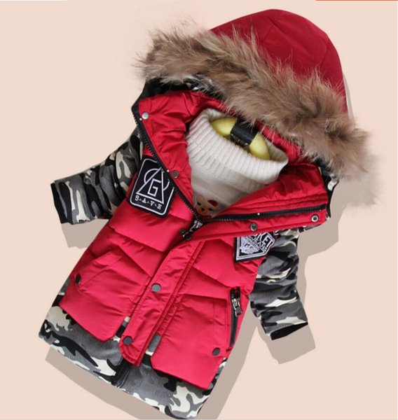 New Boys Parka Childen Winter Jackets for Boys Down Jackets Coats Warm Kids Baby Thick Cotton Down Jacket Cold Winter