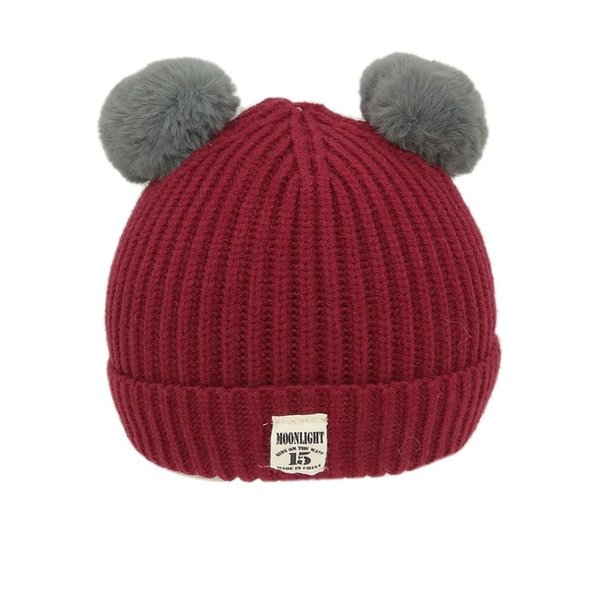 Brand New Pom Children Winter Hat For Girls Hat Knitted Beanies Cap Brand New Thick Baby Cap Baby Girl Boy Winter Warm A30