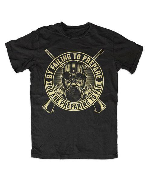 Prepper 2 T-Shirt Apokalypse, Survival, Schutz, Katastrophe, Krise, Zombie, Jagd, Hunt T-Shirt manga corta para hombre