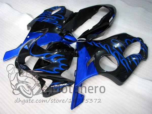 Injection molding Free Gifts Bodywork For HONDA CBR600 F4 1999 2000 CBR 600F4 99 00 Blue Flames L319 CBR 600 F4 99-00 FS Fairing Kit