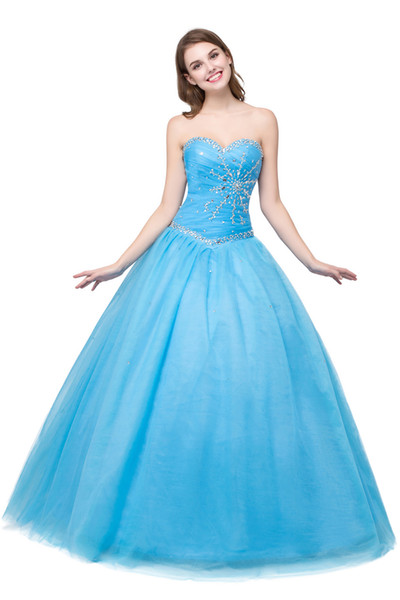2018 Quinceanera Ball Gowns Cheap Real Photo Beaded Pleated Masquerade Prom Dresses Sweet 15 Teens Party Evening Dresses In Stock
