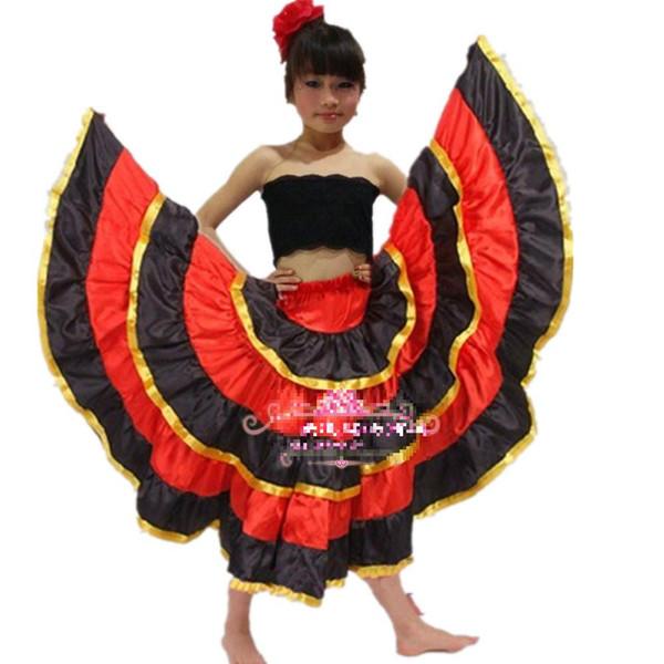 Nuovo vestito da ballo di flamenco per bambini Costume da ballo di apertura vestiti da ballo flamenco Costume da ballo spagnolo Samba Paso Doble