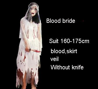 2018 Adult Halloween Costumes For Men And Women Horror Cosplay Funny Clothes Blood Werewolf School Students Zombie Horror Costume