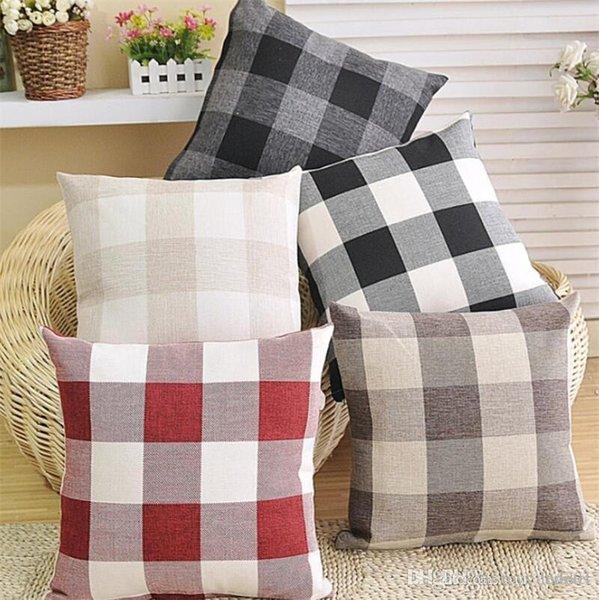 45 * 45CM Home Sofa Throw Pillowcase Pure Color Polyester White Pillow Cover Cushion Cover Pillow Case Blank christmas Decor Gift