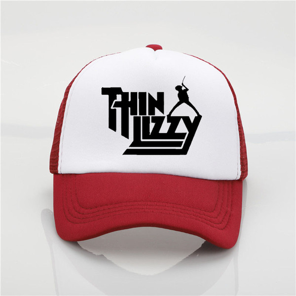 Thin Lizzy band printing net cap baseball cap Men and women Summer Trend  Cap New Youth Joker sun hat Beach Visor hat a380d2d9f