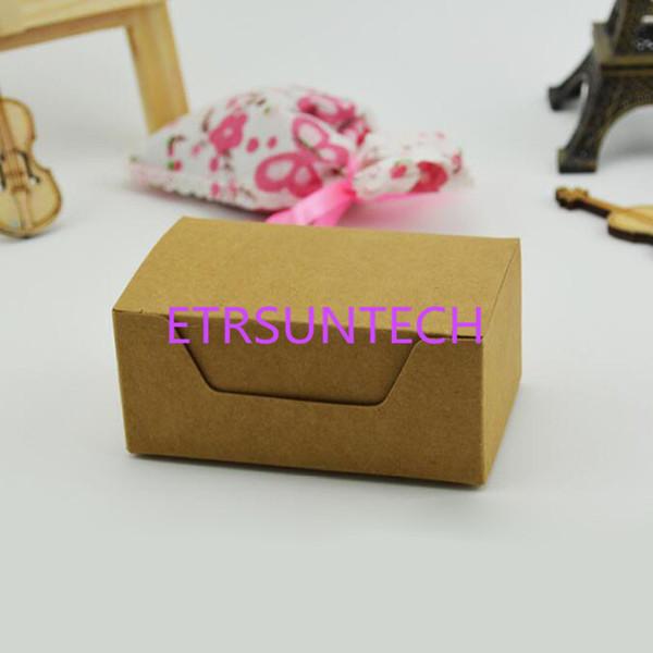Großhandel 9 2 5 6 4 Cm Kraftpapier Box Visitenkarte Verpackung Box Schmuck Seife Süßigkeiten Geschenk Boxen Schwarz Braun Qw8030 Von