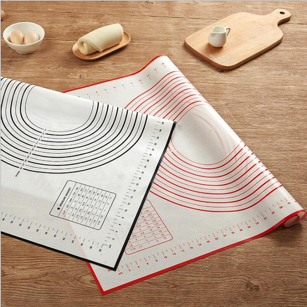 best selling 60*40CM Non Stick Silicone Baking Mat Sheet Kneading Rolling Dough Pad Mat Baking Bakeware Liners Pads Cooking Tools