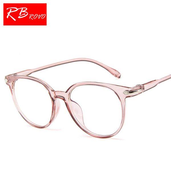 2b1164a1bc RBROVO 2018 Jalea Transparente Color Gafas de Sol Mujeres Caramelo Redondo  de Lujo Lente Señora Gafas