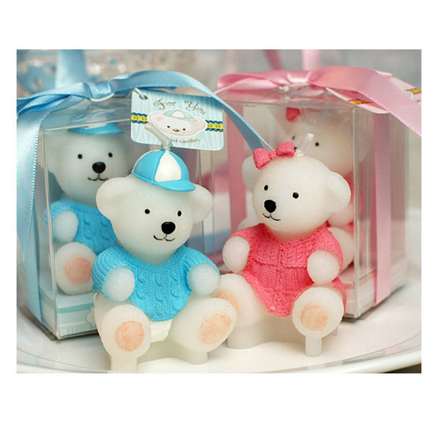 Baby shower favor candle children birthday party candles sweater bear small candle gift wedding decoration wen6940
