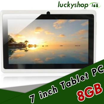 best selling 60X 2018 7 inch Capacitive Allwinner A33 Quad Core Android 4.4 dual camera Tablet PC 8GB RAM 512MB ROM WiFi EPAD Youtube Facebook Google DHL